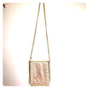 Gold sequins crossbody bag